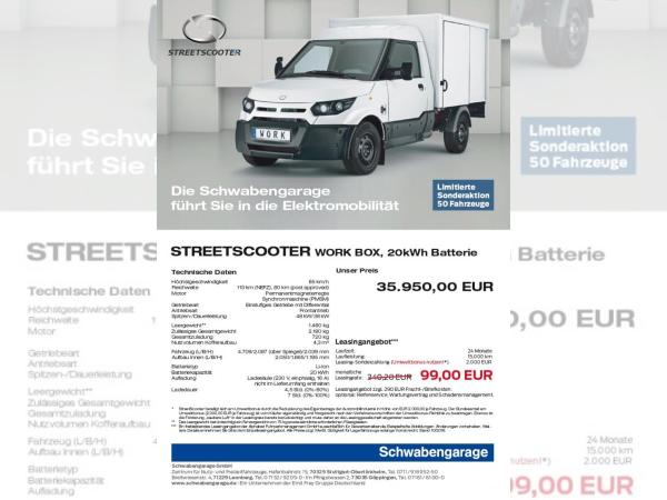Foto - Streetscooter Work Box 20kWh - 99,- € AKTION!
