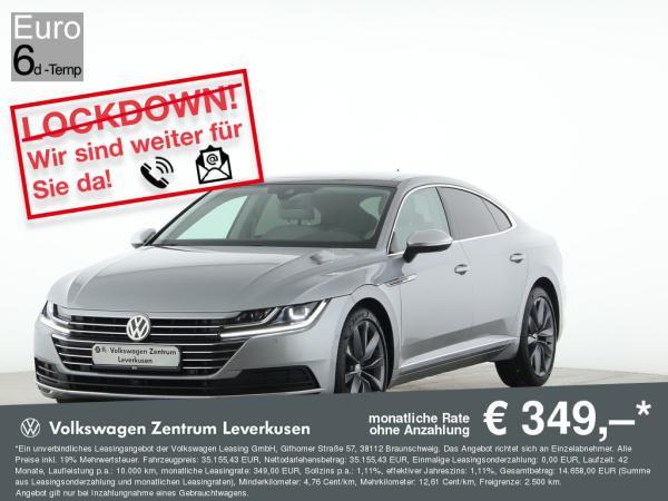 Volkswagen Arteon Elegance ab mtl. 349€¹ DSG NAVI STANDHZ ASSISTENZEN PANO LED (NUR BEI INZALUNGNAHME)
