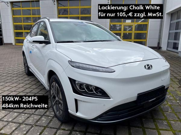 Hyundai KONA SELECT 150kW+204PS+484km Reichweite+11kW*SITZHEIZUNG*KAMERA*