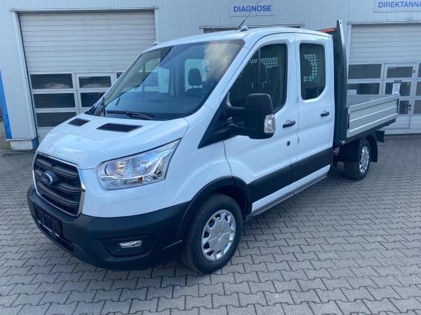 Ford Transit *ab 73,79€ netto* Pritsche L2 310 Trend Doka LKW 130PS inkl. AHZV, Ganzjahresreifen
