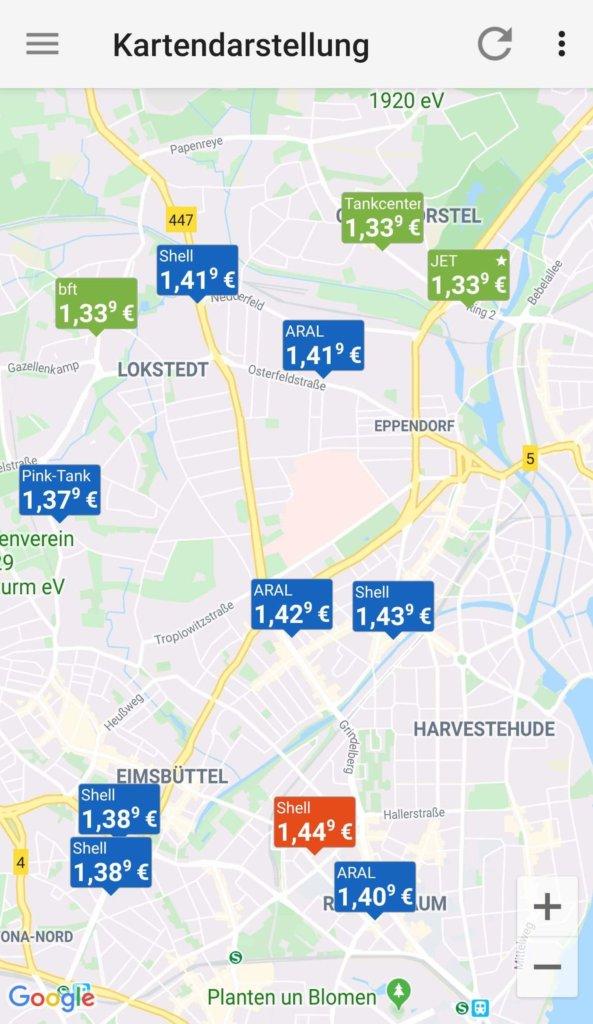 benzinpreisblitz karte