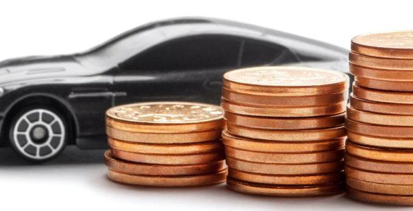 münzen vor auto
