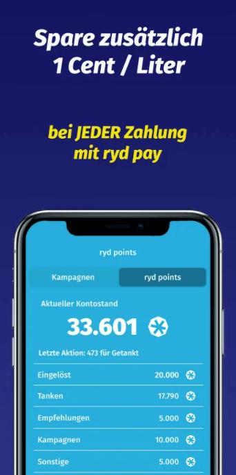 ryd app sparen