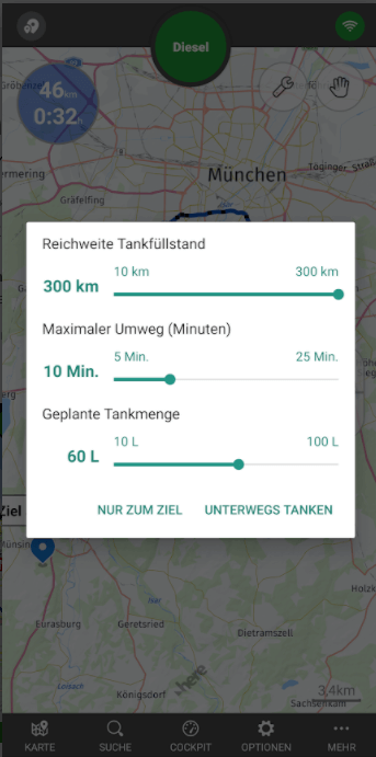 tankschwein app filter