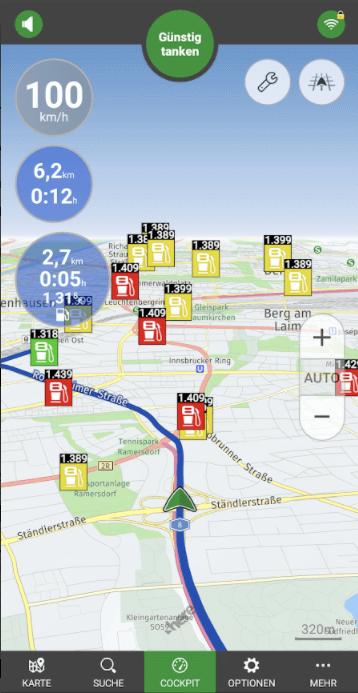 tankschwein app route