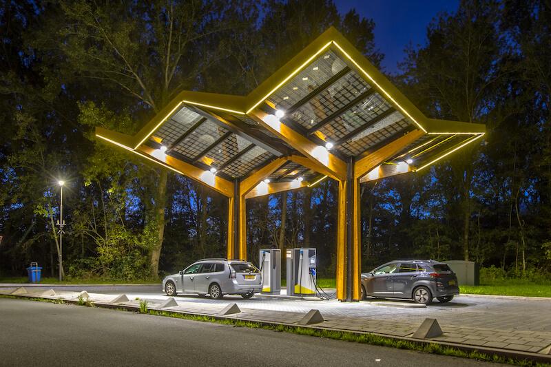 elektroauto laden nachts