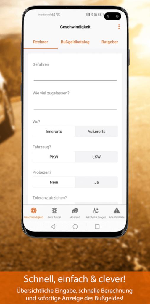 bussgeld app rechner