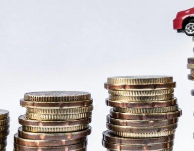 kleines auto auf euro münzen
