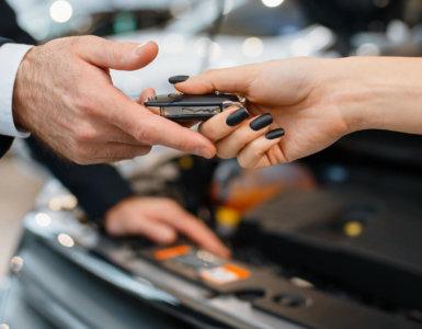 uebernahme des probefahrzeugs beim haendler