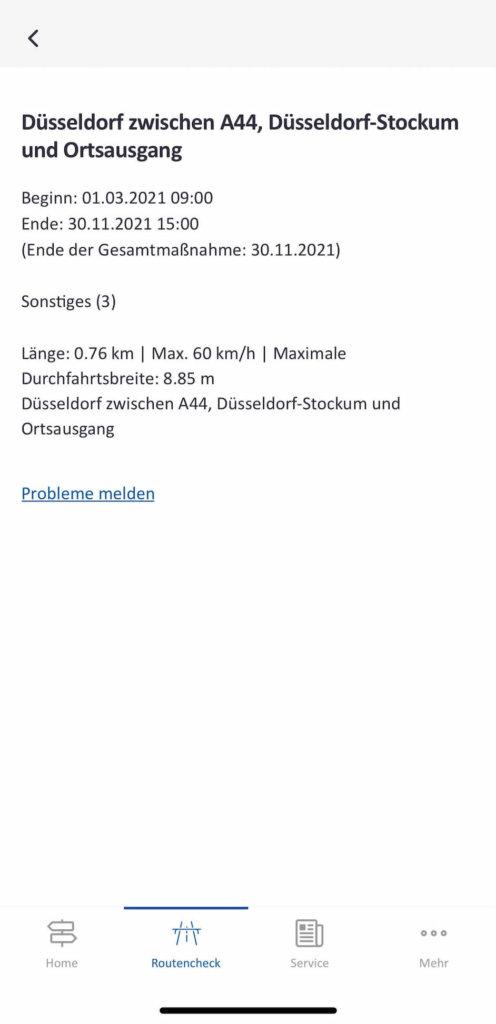 autobahn app detaillierte informationen zur autobahn