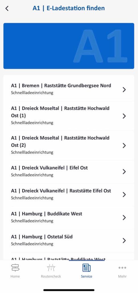 autobahn app uebersicht e ladestationen