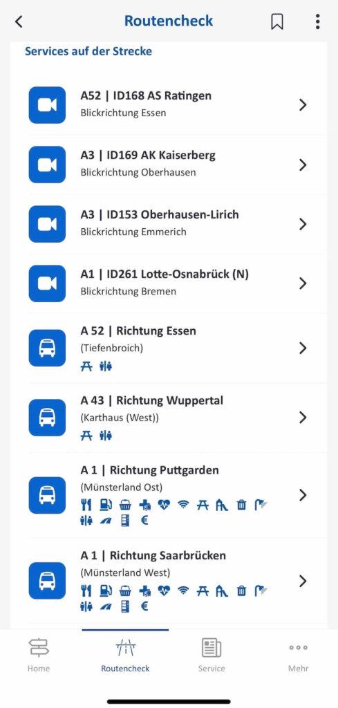 autobahn app rastplaetze im ueberblick