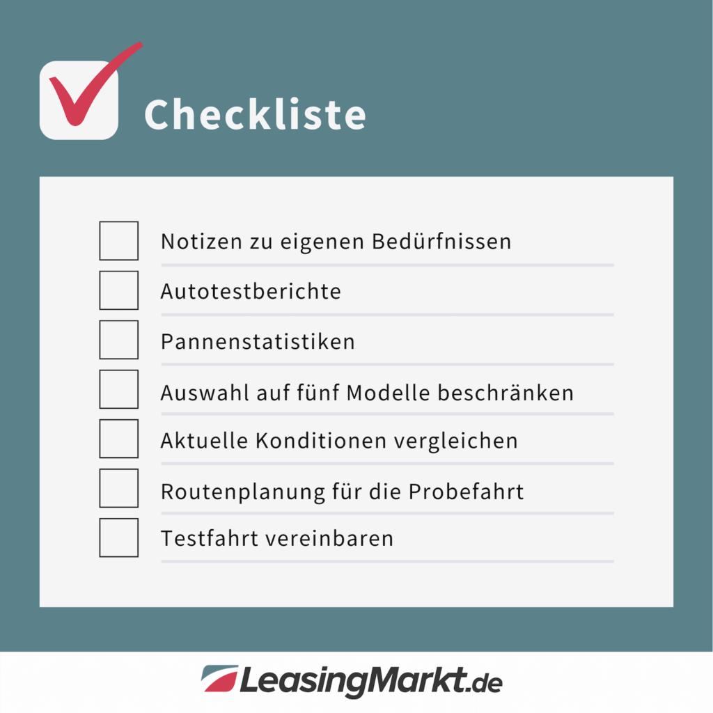 checkliste zur probefahrt vorbereitung