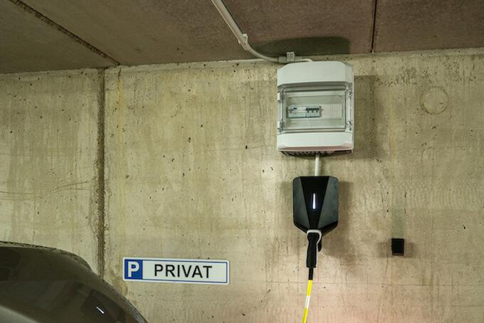 wallbox installation in der garage