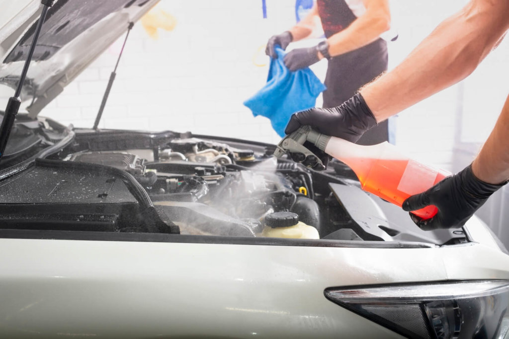 motorreinigung pkw aufbereitung