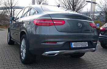Das Heck vom Mercedes GLE