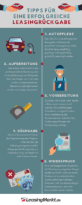 infografik tipps zur leasingrueckgabe