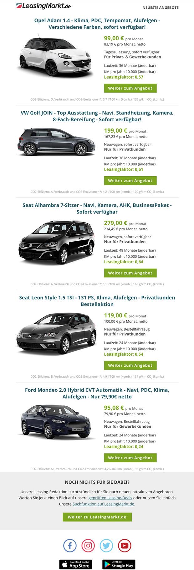 Vorschau LeasingMarkt.de Newsletter
