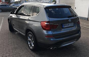 Heckansicht des X3 von BMW