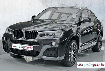 schwarzer BMW X4 zum leasen
